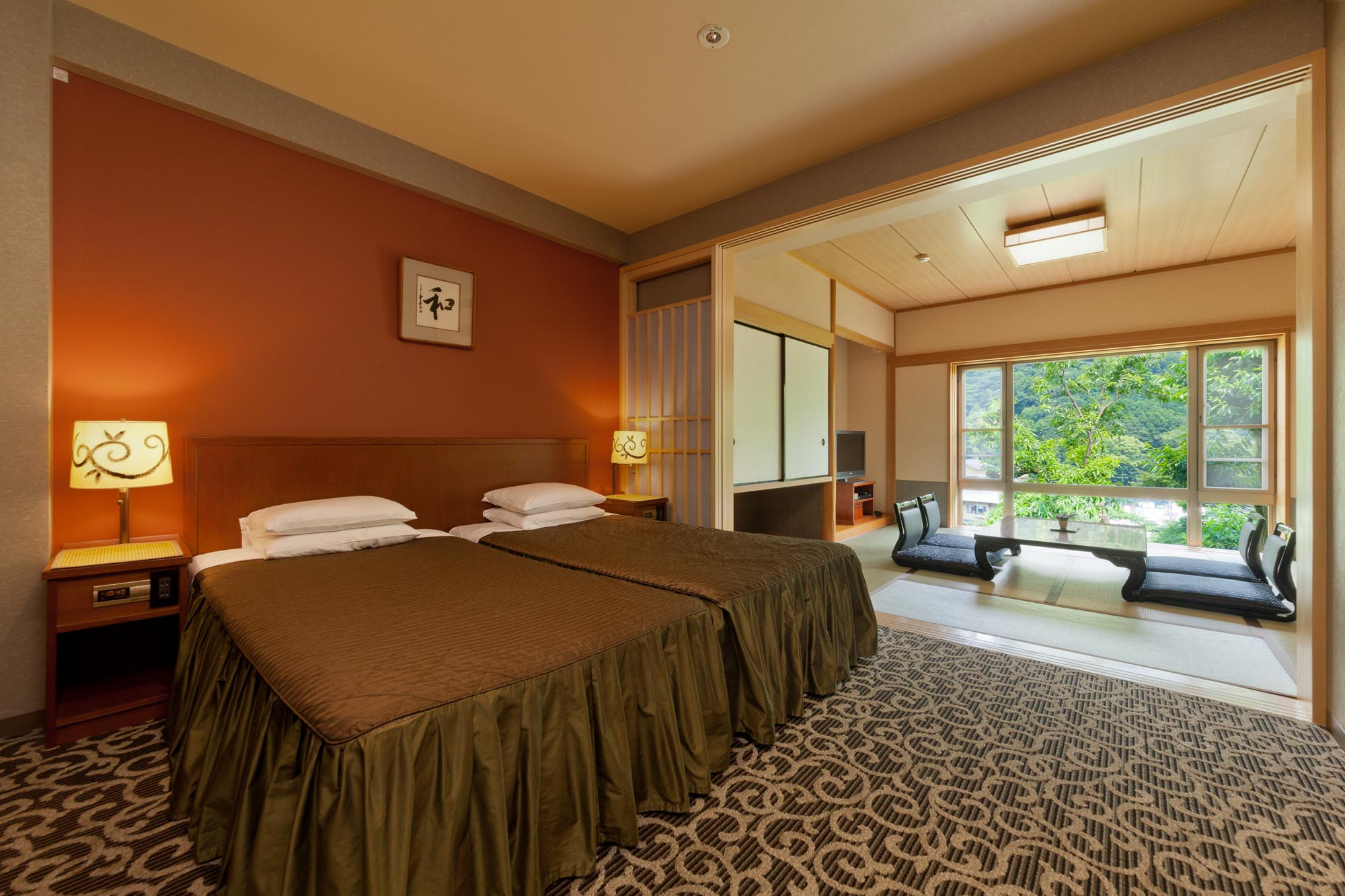 Suite room with Souhinoki Furo